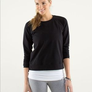 Lululemon Voyage Pullover Black Crew Sweatshirt